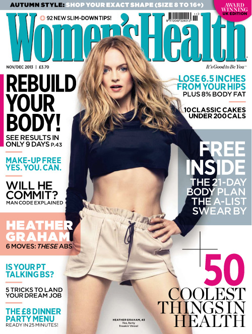 Womens Health November 2013 cover